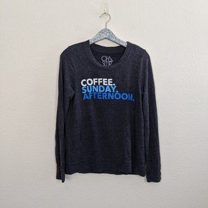 Chaser Coffee Sunday Afternoon Navy Sweatshirt